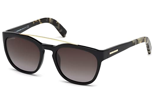 Amazon.com: Dsquared2 Gafas de sol Harry DQ 164 01B 54 x 20 ...