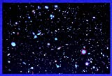 Black Light Reactive Hubble Ultra Deep Field Hi Gloss Space Poster Fine Art Print
