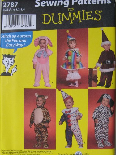 (Simplicity Sewing Patterns For Dummies 2787 Costumes for)