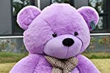 Joyfay Big Purple Teddy Bear-Over 7 feet tall Giant Teddy Bear is a Huge Softy. This Life Size Bear will Lift your Spirits on its Enormous Shoulders. Well Proportioned and Meticulously Put Together.