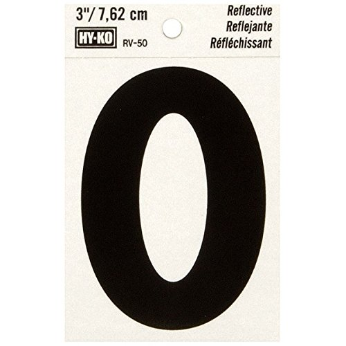 """HyKo Products Co 20407328 Lettering Reflective Vinyl 3"""" (O) - Black On Silver from HyKo Products Co (FLHWR)"""