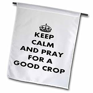 fl_63143_1 Taiche - Greeting Card - Keep Calm - Pray For a Good Crop - crop, riding crop, keep calm and carry on, humor, humour, fun, discipline - Flags - 12 x 18 inch Garden Flag