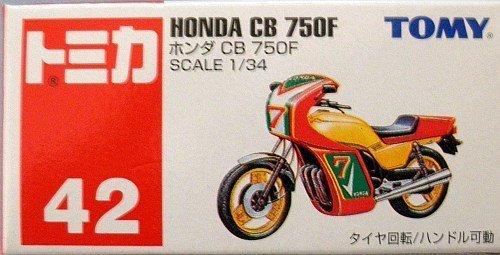 1/34 ホンダ CB750F(レッド×イエロー/赤箱) 「トミカ No.42」