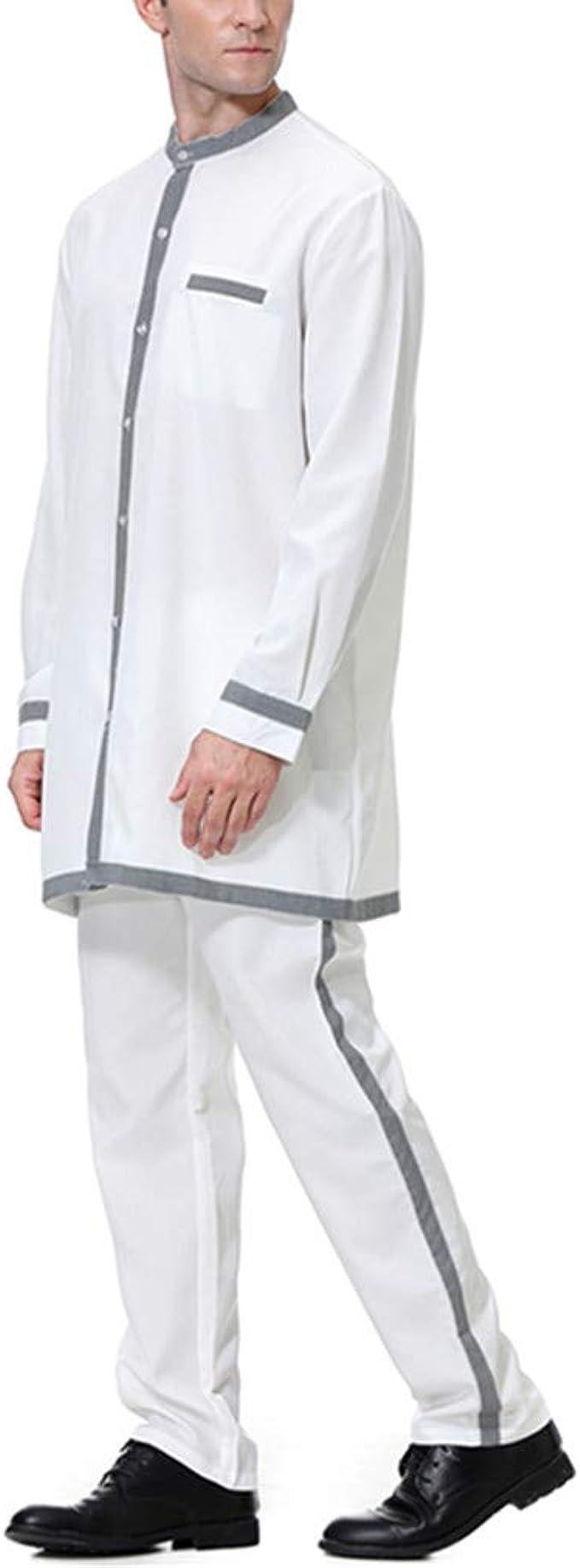 Longue Chemise Costume Abaya Dubai de Soirée Orientale KRUIHAN Robe Homme Arabe Vêtements ...