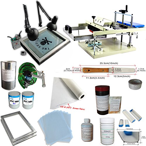 TechTongda Cylinder Screen Printing Kit Cylinderical Screen Printing Machine Screen Printing Press Bottle Printing by Screen Printing Kit