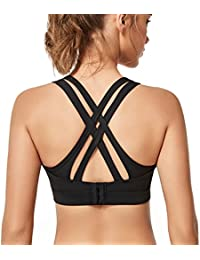 Women High Impact Sports Bras Criss Cross Back Sexy Running Bra for Plus Size