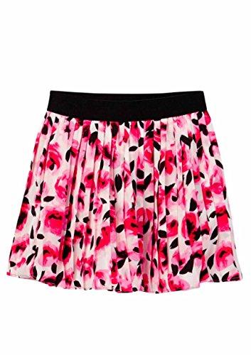 KATE SPADE NEW YORK Floral print pleated skirt (4 Big Kids, Rosebud) (Skirt New York Pleated)