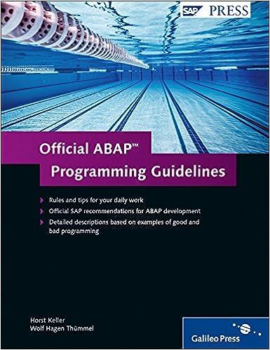 Official Abap Programming Guidelines Keller Horst Thümmel Wolf Hagen 9781592292905 Amazon Com Books