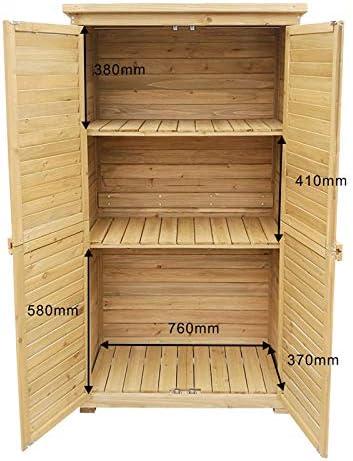 Caseta de jardín 870x465x1600mm con puerta laminada, madera de ...