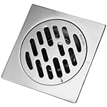 TOPINCN Thick Stainless Steel Square Anti-odor Bathroom Floor Drain Cover Waste Gate Shower Drainer (Color2)