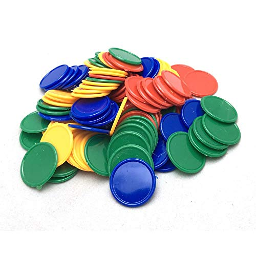 - SmartDealsPro Set of 100 1 Inch Plastic Learning Counting Counters Game Tokens Mini Poker Chips-Random Color
