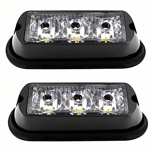 2PCS-3-LED-Strobe-Light-Amber-Waterproof-Emergency-Beacon-Flash-LightsPurishion-Caution-Bar-9-Different-Flashing-Car-SUV-Pickup-Truck-Van
