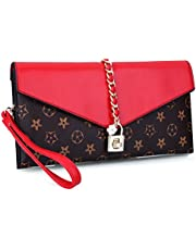 EROGE Evening Bag Women Oversized Flower Designer Evening Clutch Handbag Wristlet with Lock