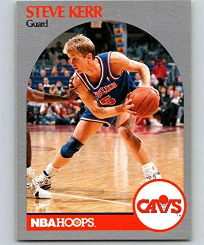 1990-91 NBA Hoops #75 Steve Kerr Cleveland Cavaliers Official Basketball Trading Card