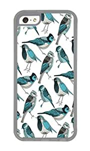 Apple Iphone 5C Case,WENJORS Unique pale green birds Soft Case Protective Shell Cell Phone Cover For Apple Iphone 5C - TPU Transparent