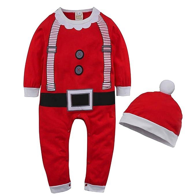 MEIHAOWEI Niños Bebés Bebés Niñas Traje de Navidad Mameluco + Sombrero  Trajes Ropa Monos de Navidad  Amazon.es  Ropa y accesorios 1b7da27b160c