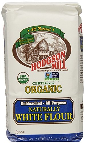 Hodgson Mill Organic Naturally White Flour, Unbleached All-Purpose, 2-Pounds (Pack of 6) (Fat Free Flour)