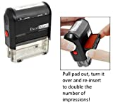ExcelMark Self Inking Like Us On Facebook Stamp - Blue Ink