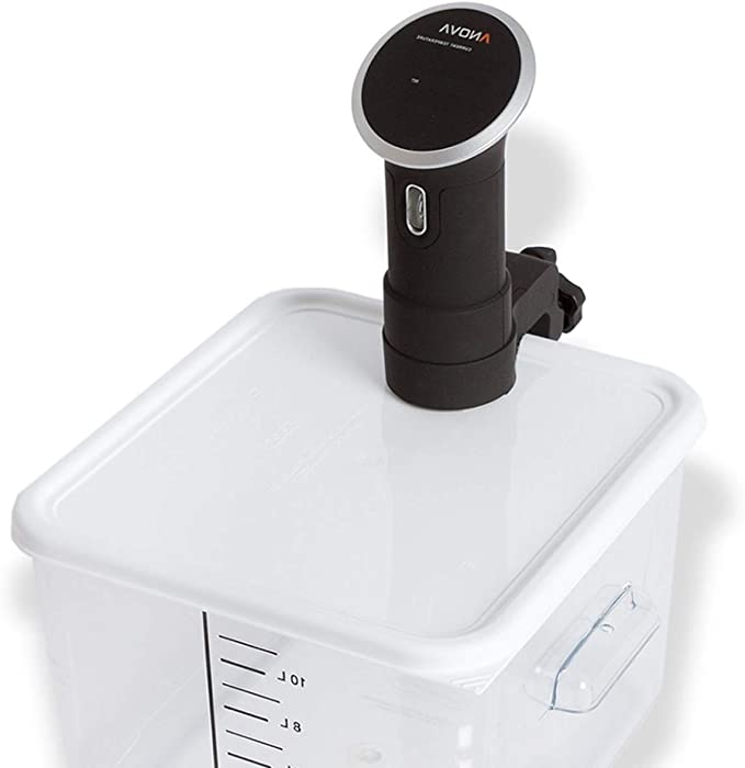 Zaggit Sous Vide Lid for Anova Culinary Precision Cookers fits 12, 18 & 22 Quart Rubbermaid Containers