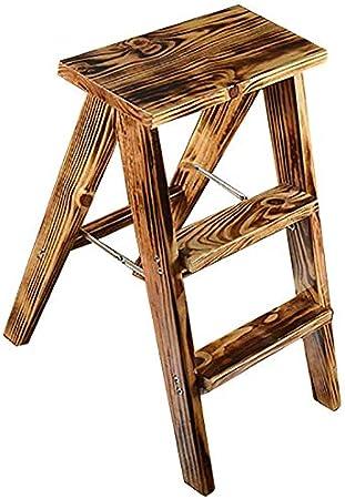 SED Escaleras de Mano Multiusos para el Hogar, Taburetes de Madera para Interiores Escalera Plegable de 3 Cocinas Capacidad de 220 Lb, Artículos para el Hogar Taburetes de Pie Pequeños Plegables Tabu: