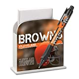 Cleveland Browns Stationery Desk Caddy with Matching Ballpoint Grip Pen - NFL (12019-QRU)
