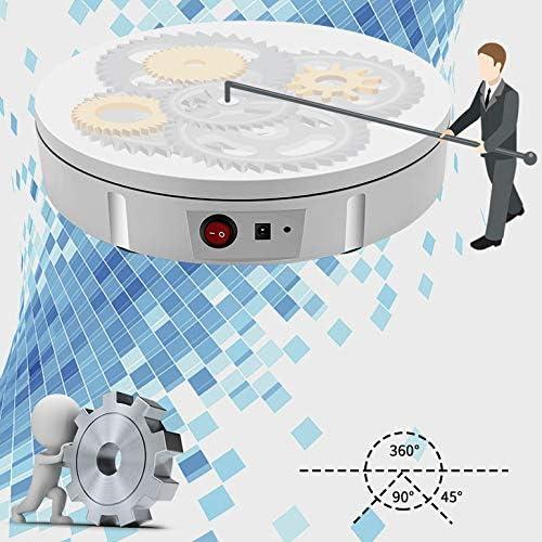 Tableau d'affichage rotatif, plaque tournante électrique, une charge de 100 kg, le diamètre de 35cm, blanc, affichage complet, adapté pour les montres de joaillerie produit