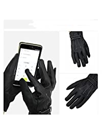 OKDEALS Men Black Winter Leather Motorcycle Touch Screen Gloves