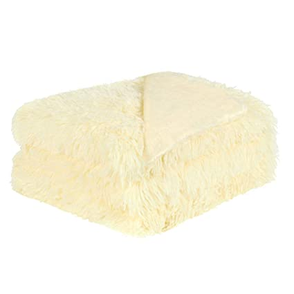 Pale Yellow Throw Blanket.Uxcell Solid Faux Fur Twin Size Blanket 59 X 78 Decorative Long Shaggy Blankets Lightweight Long Fur Microfiber Fleece Blanket For Bed Couch And