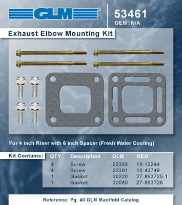 EXHAUST ELBOW MOUNTING KIT | GLM Part Number: 53461 ()