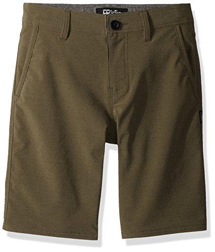 Oneill Kids Boys Shorts - O'Neill Big Boys' Stockton Stretch Twill Hybrid Boardshort, Military Green, 26