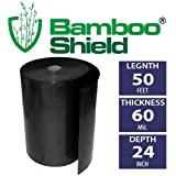 Bamboo Shield- 50 foot long x 24 inch x 60 mil bamboo root barrier/water barrier