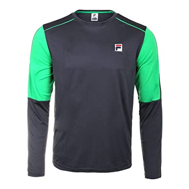 8a5260b6e768 Amazon.com: Fila Men`s Legends Long Sleeve Tennis Crew (Small -  TennisExpress): Clothing