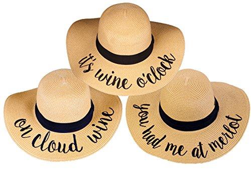 Merlot Box - H-2017-3-IWO.OCW.YHMAM Sun Hat Bundle Wine Trio - You Had Me at Merlot