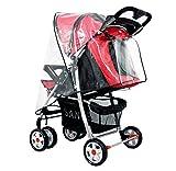 Multifunctional Universal Baby Stroller Rain Cover Wind Shield Waterproof White
