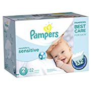 Pampers Swaddlers Sensitive Disposable Diapers Size 2, 132 Count