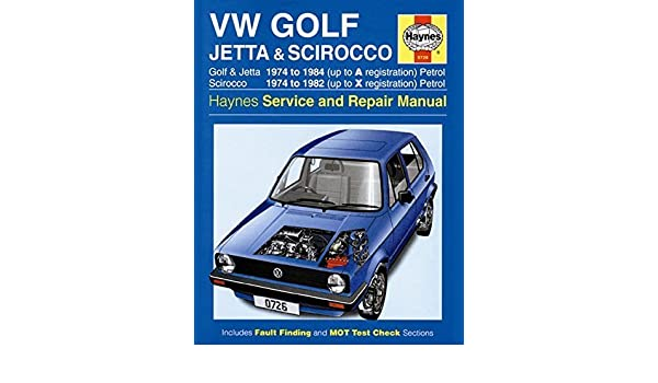 Volkswagen Golf, Jetta and Scirocco MK1(Petrol) 1974-85 (Haynes Owners Workshop Manual) by Legg, A. K. (1985) Hardcover: Amazon.com: Books
