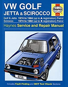 volkswagen golf jetta and scirocco mk1 petrol 1974 85 haynes rh amazon com 1986 Volkswagen Golf 1983 Volkswagen Golf