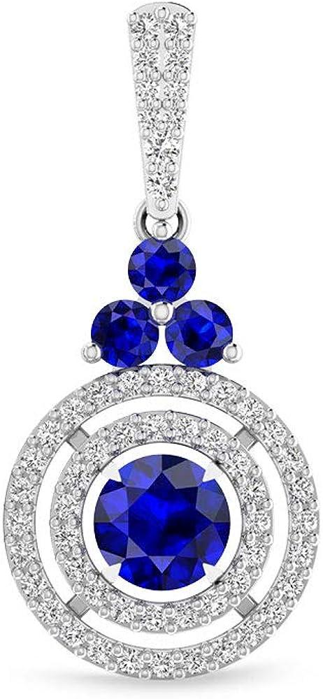 Pendientes colgantes de zafiro difuminados, certificado por IDCL Moissanite Halo, para fiestas, joyas nupciales, piedras azules, regalos de San Valentín, tornillo hacia atrás