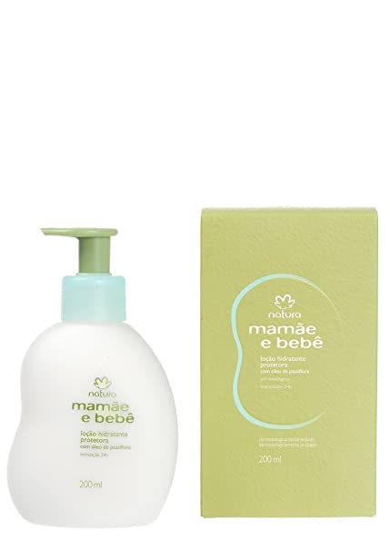 Amazon.com: Linha Mamae Bebe Natura - Locao Hidratante Protetora Com Oleo de Passiflora (Flor de Maracuja) 200 Ml - (Natura Mom and Baby Collection ...