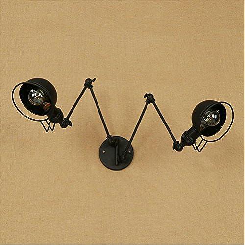 Style Applique Noir Bras Industriel Vintage Murale Retro Balançoire Yy6f7gb