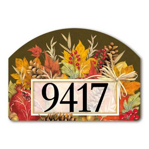 Yard Designs Address Magnet - Yard Design Fruits of Fall Yard Sign 79234