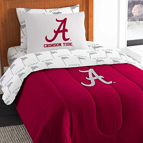 NCAA Alabama Crimson Tide Twin Bedding Set (Alabama Crimson Tide Applique)