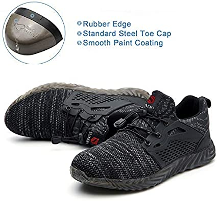 Details about  /Mens Lightweight Work Safety Shoes Indestructible Steel Toe Cap Boots Sneakers