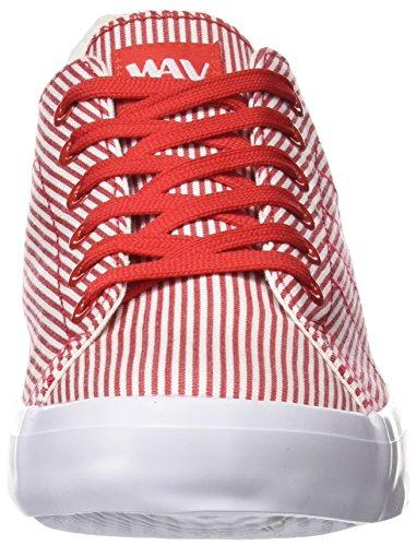 BEPPI Canvas Shoe, Zapatillas de Deporte Para Mujer Rojo (Red)
