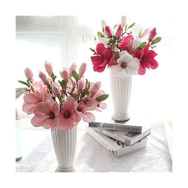 Inverlee-Artificial-Flowers-Magnolia-Fake-Flowers-Leaf-Floral-Wedding-Bridal-Bouquet-DIY-Home-Garden-Decor