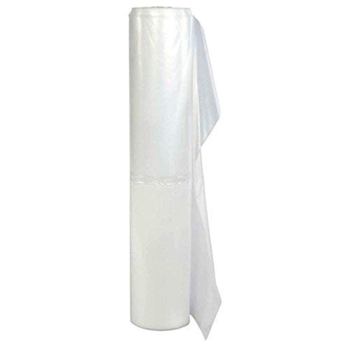 TRM Manufacturing FR420 Weatherall 4 Mil Flame Retardant Clear Poly Plastic Sheeting, 1 Box of 100 Feet Long by 20 Feet Wide