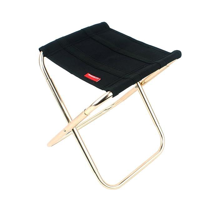 Sunbeter Mini Folding Camping Stool Lightweight Portable Chair Outdoor Folding Stool Slacker Chair for BBQ,Camping,Fishing,Travel,Hiking,Garden,Beach