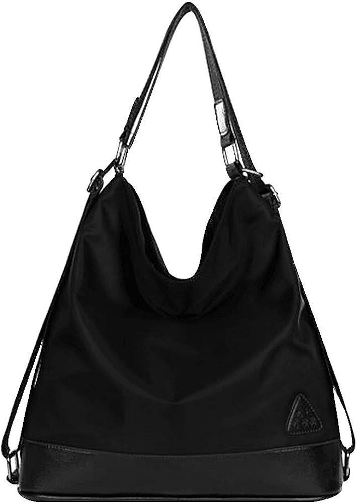Millya Bolso para mujer, nailon, bolso al hombro, bolso multifuncional, convertible en mochila