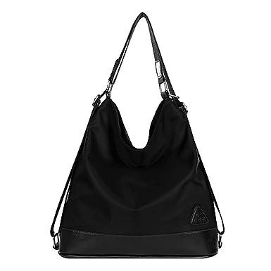 Millya - Bolso mochila de Nylon para mujer negro negro Talla única: Amazon.es: Ropa y accesorios