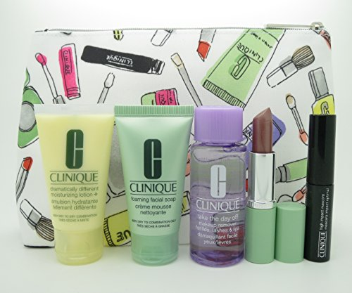 New! Clinique 6-PC Skincare Makeup Gift Set 2016